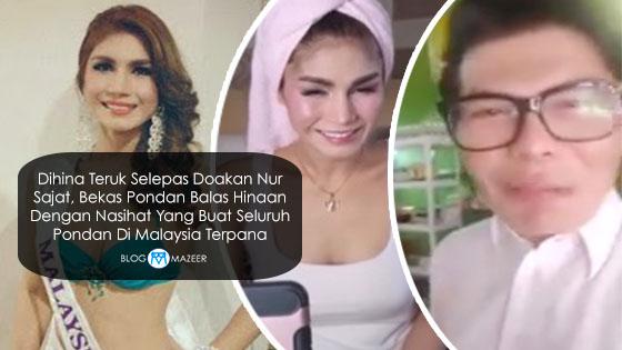 Dihina Teruk Selepas Doakan Nur Sajat, Bekas Pondan Balas Hinaan Dengan Nasihat Yang Buat Seluruh Pondan Di Malaysia Terpana