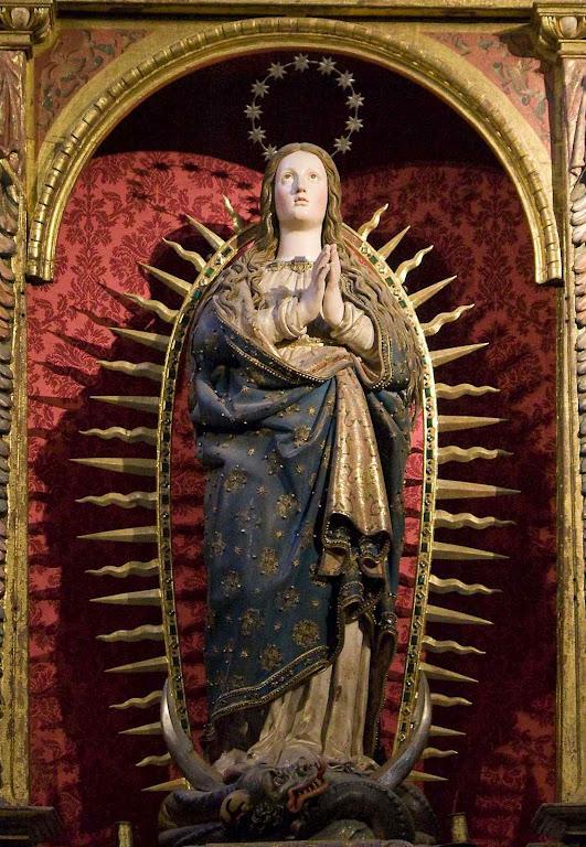 A Imaculada Conceição, catedral de Segovia, Espanha