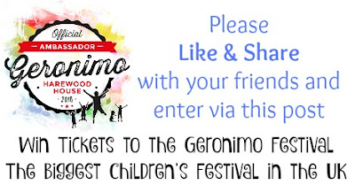 WIN tickets to GERONIMO - The Biggest Children's Festival in the UK
