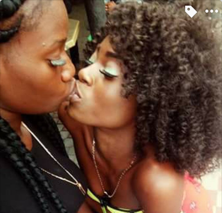 Cucumber? Social media comes for woman who kissed her female friend
