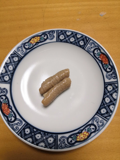 Giblets(Motsu) is on the Japanese plate