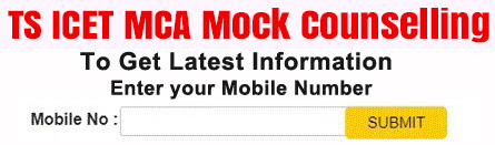 TS ICET MCA Mock Counselling