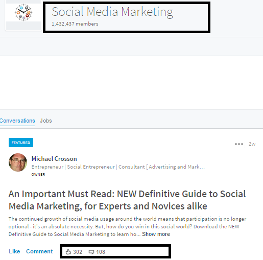 Share on Linkedin after publishing blog post