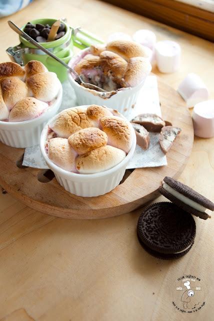 oreo&milka oreo milka deser czekoladowy pianki marshmallow kokilki