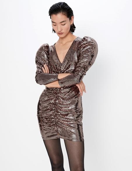 vestido de fiesta de zara de lentejuelas