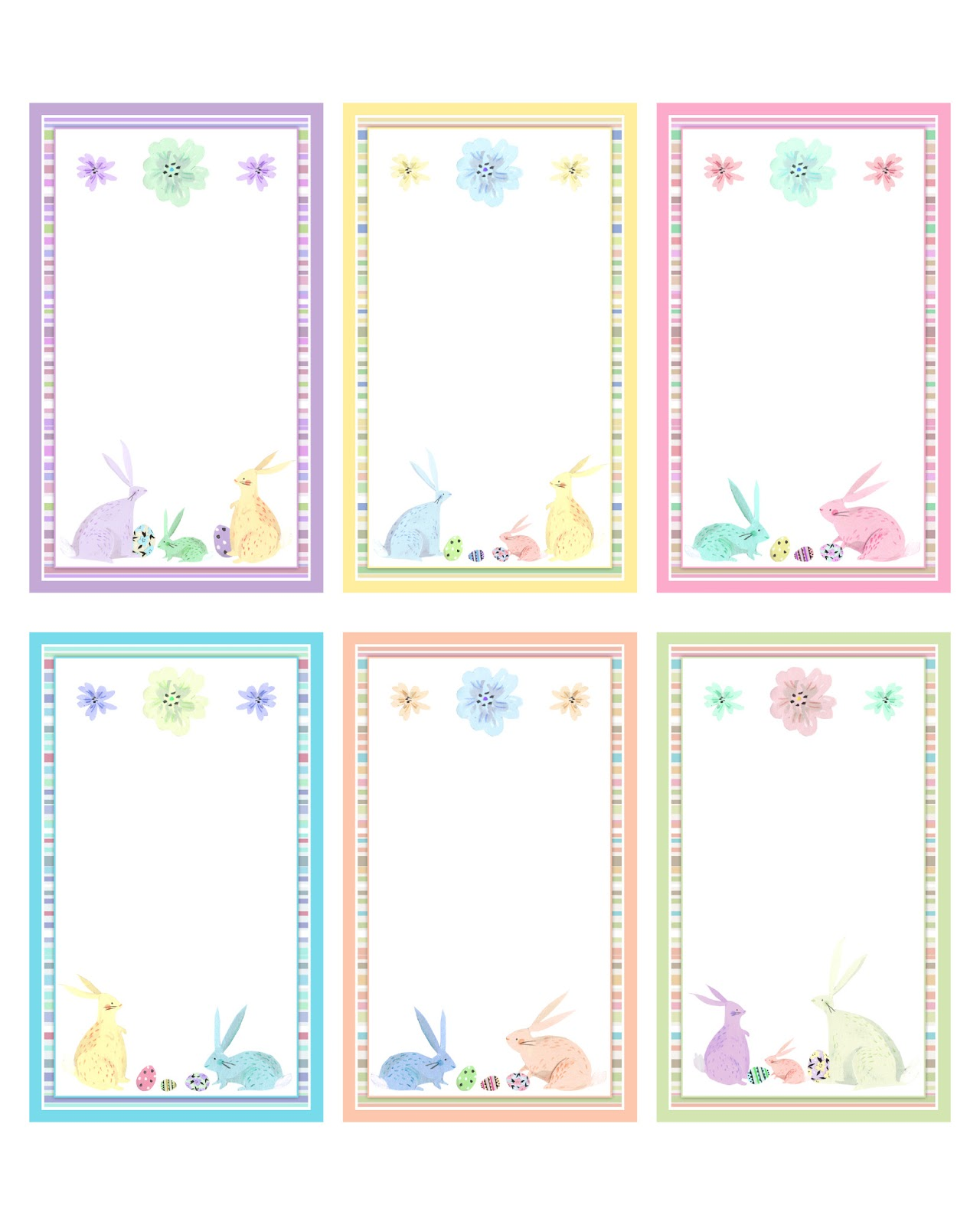 Free easter and spring printables party pack the cottage for Easter name tags template