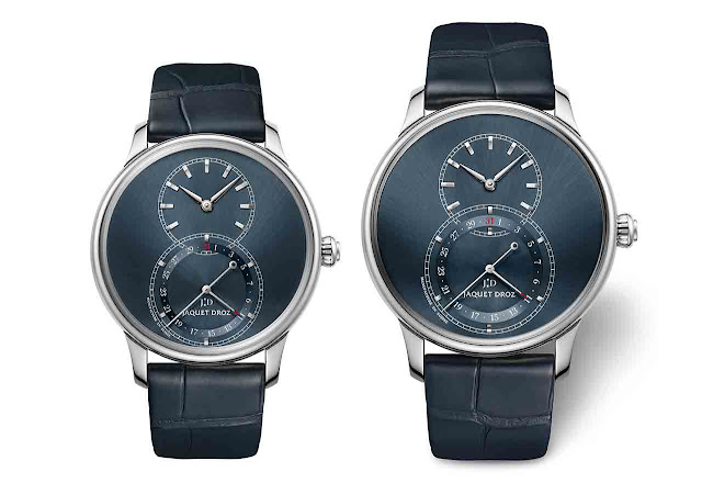 Jaquet Droz Grande Seconde Quantième Satin-brushed Blue