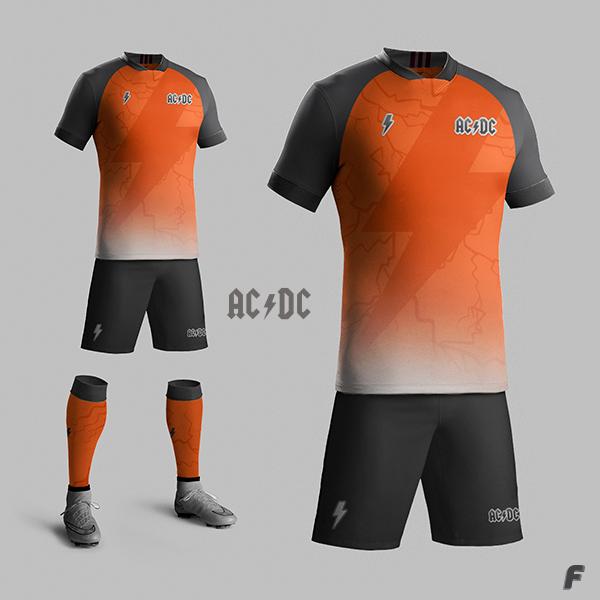 9e39c3a132b94 Designer cria camisas de futebol para bandas de rock - Show de Camisas