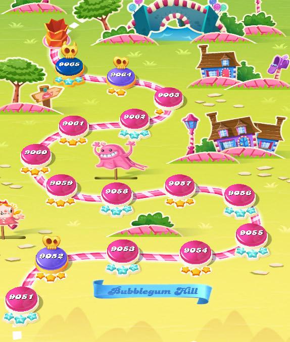 Candy Crush Saga level 9051-9065