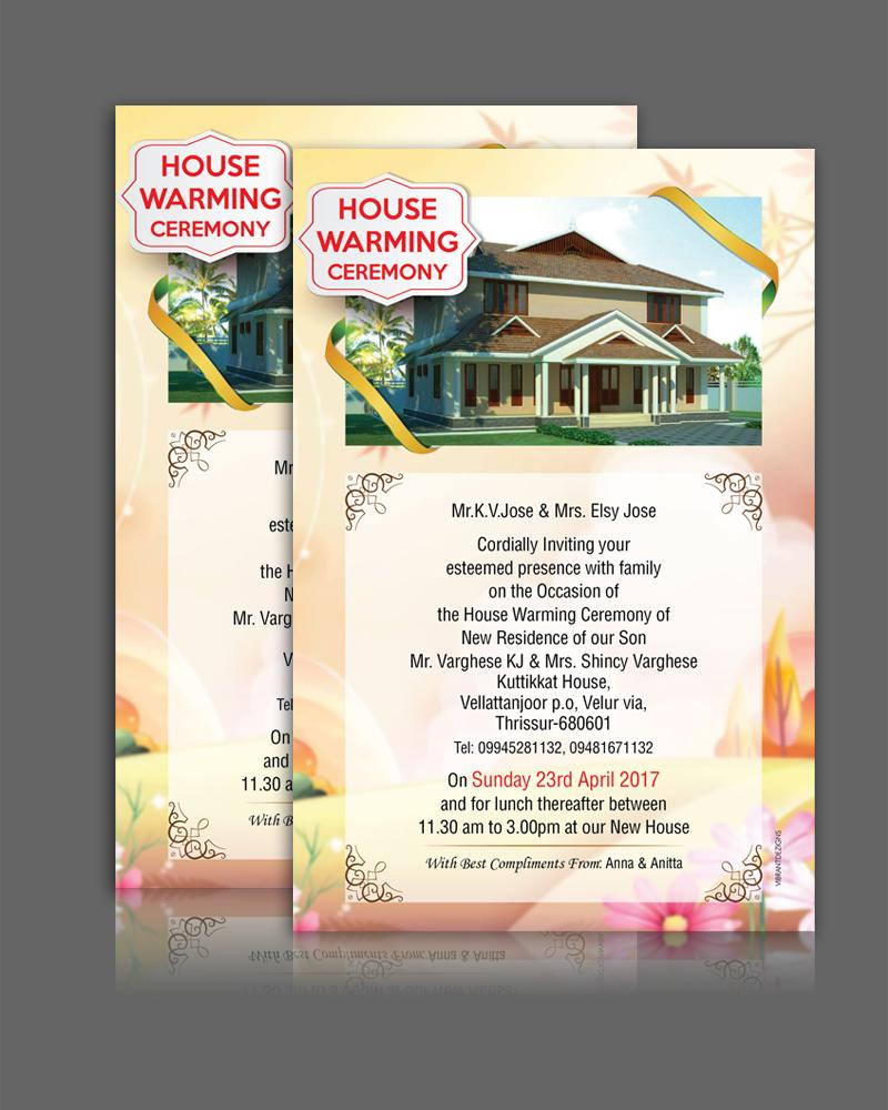 Housewarming Malayalam Invitation Premium Invitation Template