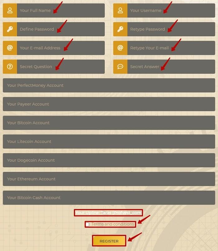 Регистрация в Bitcer 2