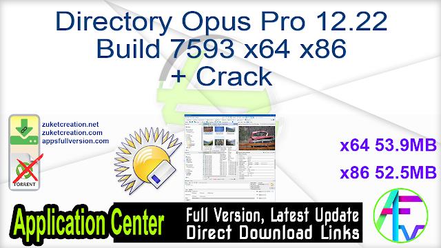 Directory Opus Pro 12.22 Build 7593 x64 x86 + Crack