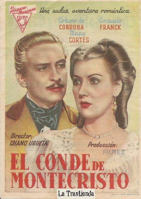 El Conde de Montecristo - Folleto de mano - Arturo de Cordova - Mapy Cortés