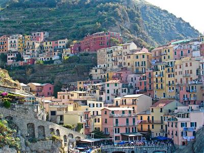 Colorful houses in Manarola, Cinque Terre