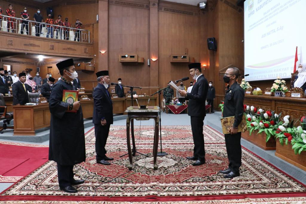 DPRD Muarojambi Gelar Paripurna PAW, Aidi Hatta Resmi Gantikan Fathuri