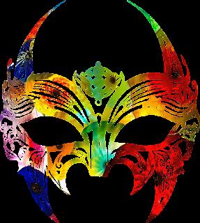 Mascara de carnaval cheia de cor 6 png