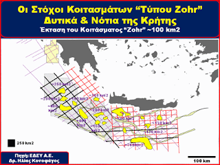 Στόχοι κοιτασμάτων τύπου Ζορ Δυτικά και Νότια της Κρήτης