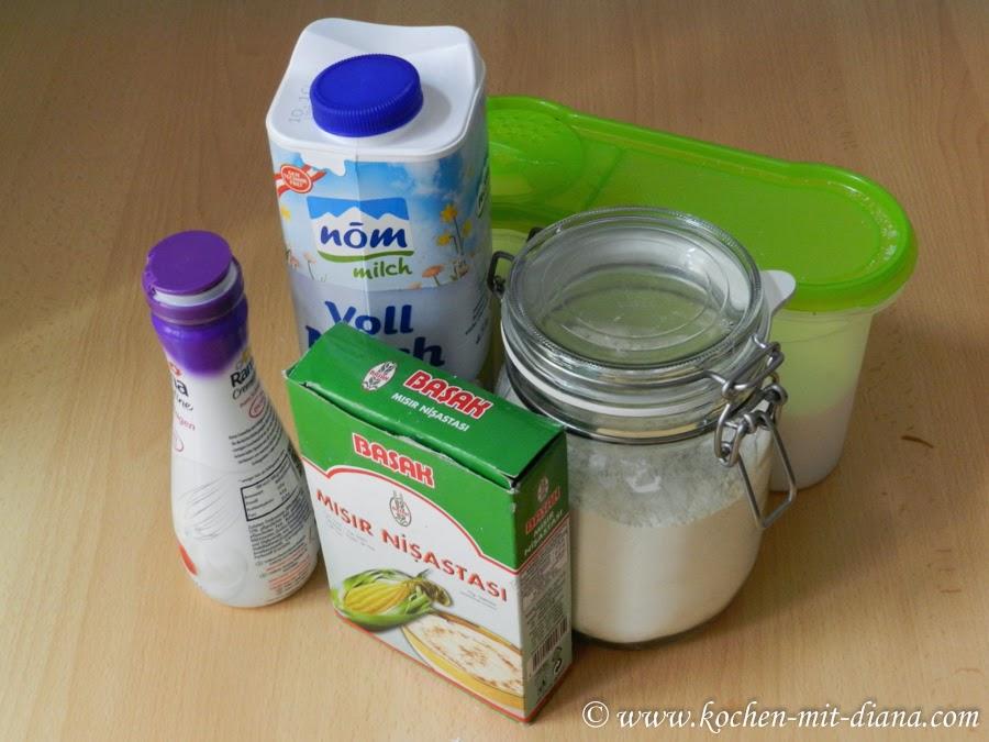 Zutaten Milchcreme