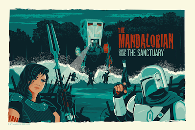 The Mandalorian Chapter Four Star Wars Screen Prints by Dave Perillo x Bottleneck Gallery
