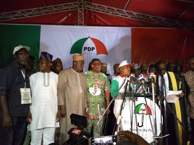 TEXT OF THE ACCEPTANCE SPEECH BY THE NEW CHAIRMAN OF  PEOPLES DEMOCRATIC PARTY  OF NIGERIA- PRINCE UCHE SECONDUS DECEMBER 10,2017.