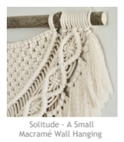 Solitude - A Small Macramé Wall Hanging