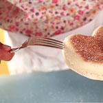 English Muffin Hearts - Step 10