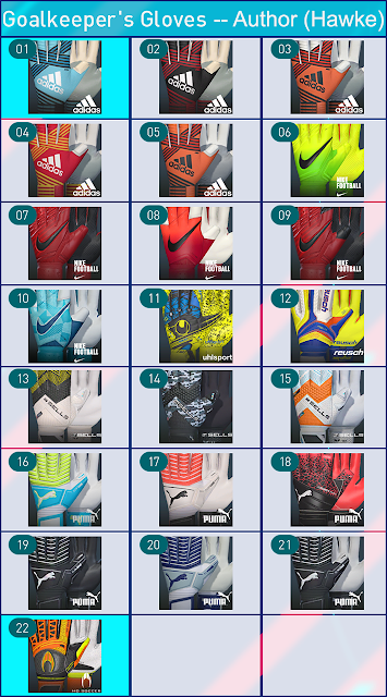PES 2018 Glovepack v1.0 by Hawke