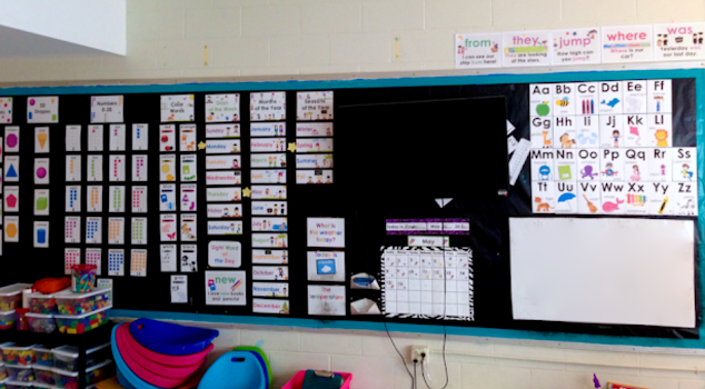 bulletin board, contact paper covering