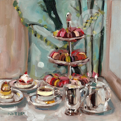 afternoon-tea-paris-oil-painting-merrill-weber