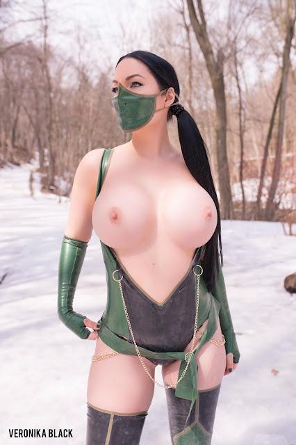 Veronika Black mortal kombat cosplay naked