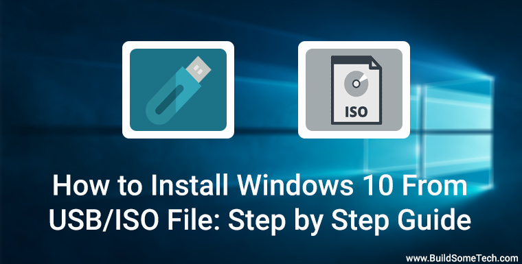 How to Install Windows 10 From USB ISO File