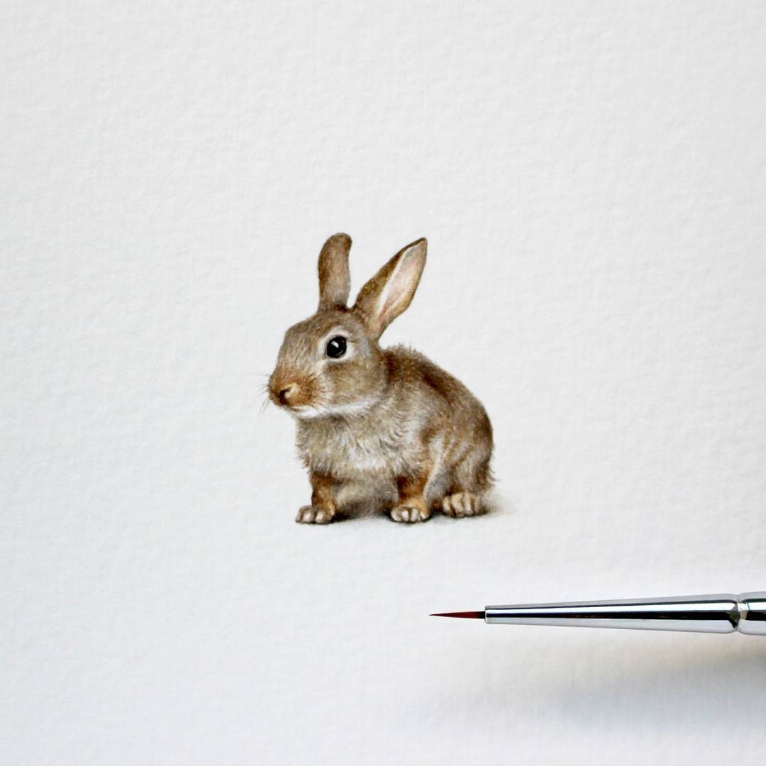 06-Little-Rabbit-Julia-Las-Tiny-Animal-Watercolor-Paintings-and-Other-Miniatures-www-designstack-co