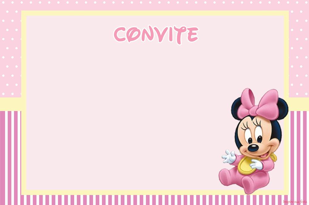 Convites Da Minnie Para Imprimir Gratis Toda Atual