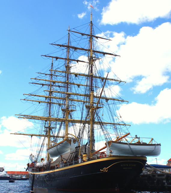 Lofty tall ship in Copenhagen