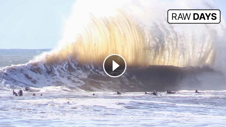 RAW DAYS Sandspit California Massive winter swell