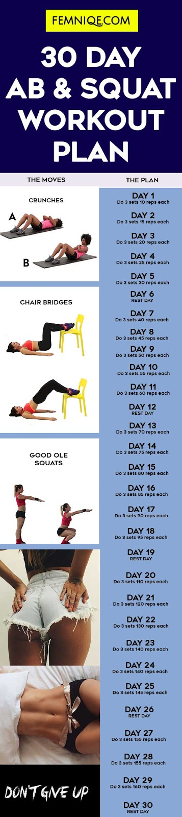 30 Day Abs and Squats Challenge | Fitness Republic | Squat