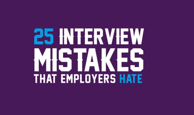 Twenty-five common interview mistakes