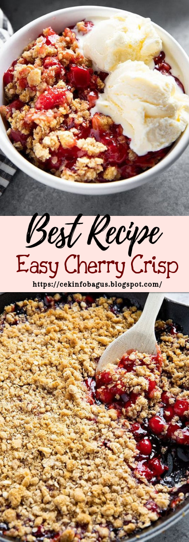 Easy Cherry Crisp #desserts #cakerecipe #chocolate #fingerfood #easy