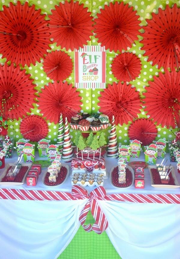 Sweet Table de Fête de Noël Petits Lutins | BirdsParty.fr
