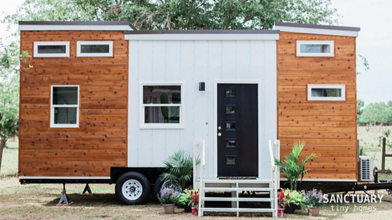 From Sanctuary Tiny Homes Is This Mid Century Modern Tiny Home With A Fun,  Eclectic Interior Named U201cTiny Lucyu201d!