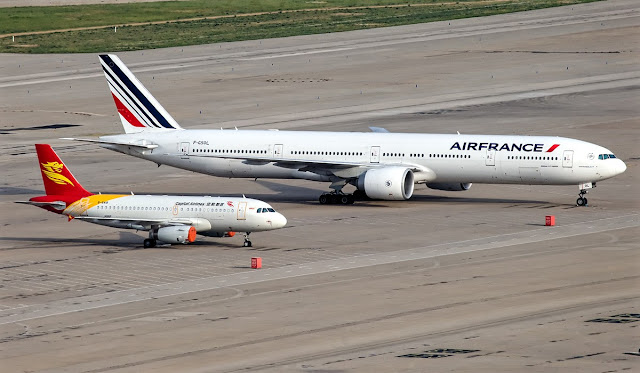 a319 and boeing 777 size comparison