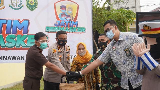 Dukung Gerakan Jatim Bermasker, Pemkot Mojokerto Siapkan Puluhan Ribu Masker