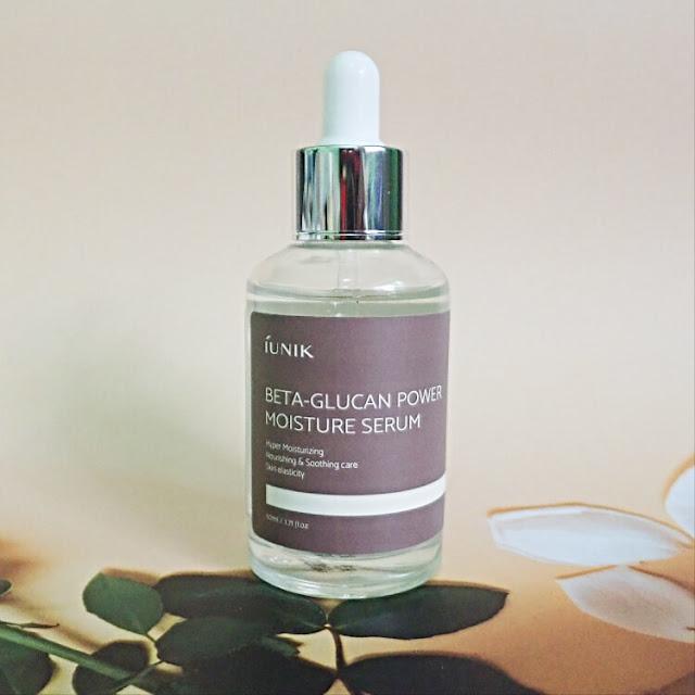 review iunik beta glucan power moisture serum