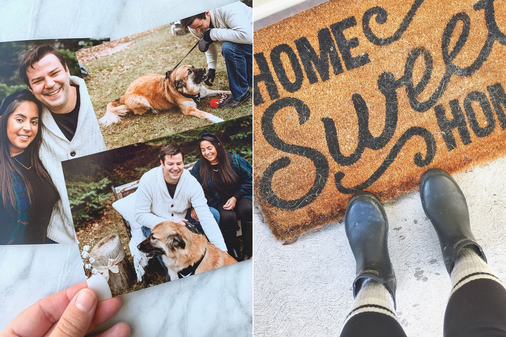 Rosalyn Gambhir, Dog, Fiancee, Home Sweet Home Doormat