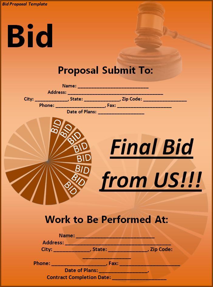 Bid Proposal Templates