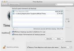 Velocizzare Backup Automatico Time Machine