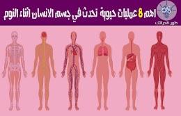 اهم 8 عمليات حيوية  تحدث في جسم الانسان اثناء النوم