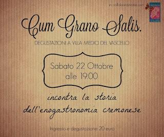Cum Grano Salis 22 ottobre San Giovanni in Croce (CR)