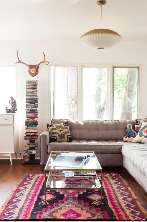 Kombinasi Warna Ungu Cat Ruang Tamu dan Kamar Tidur Yang Bagus