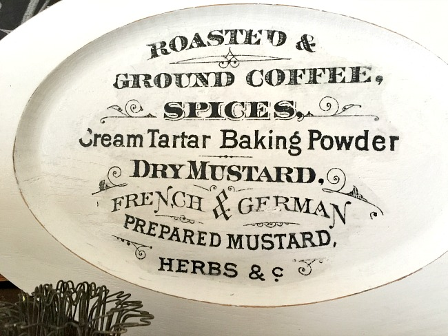 A Farmhouse Tray with a Coffee Image Transfer from the Graphics Fairy